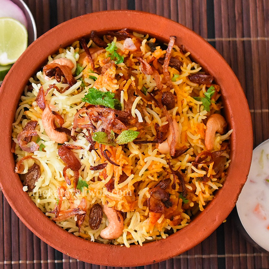 Chicken dum biryani chicken dum biryani recipe the for Chicken biryani at home