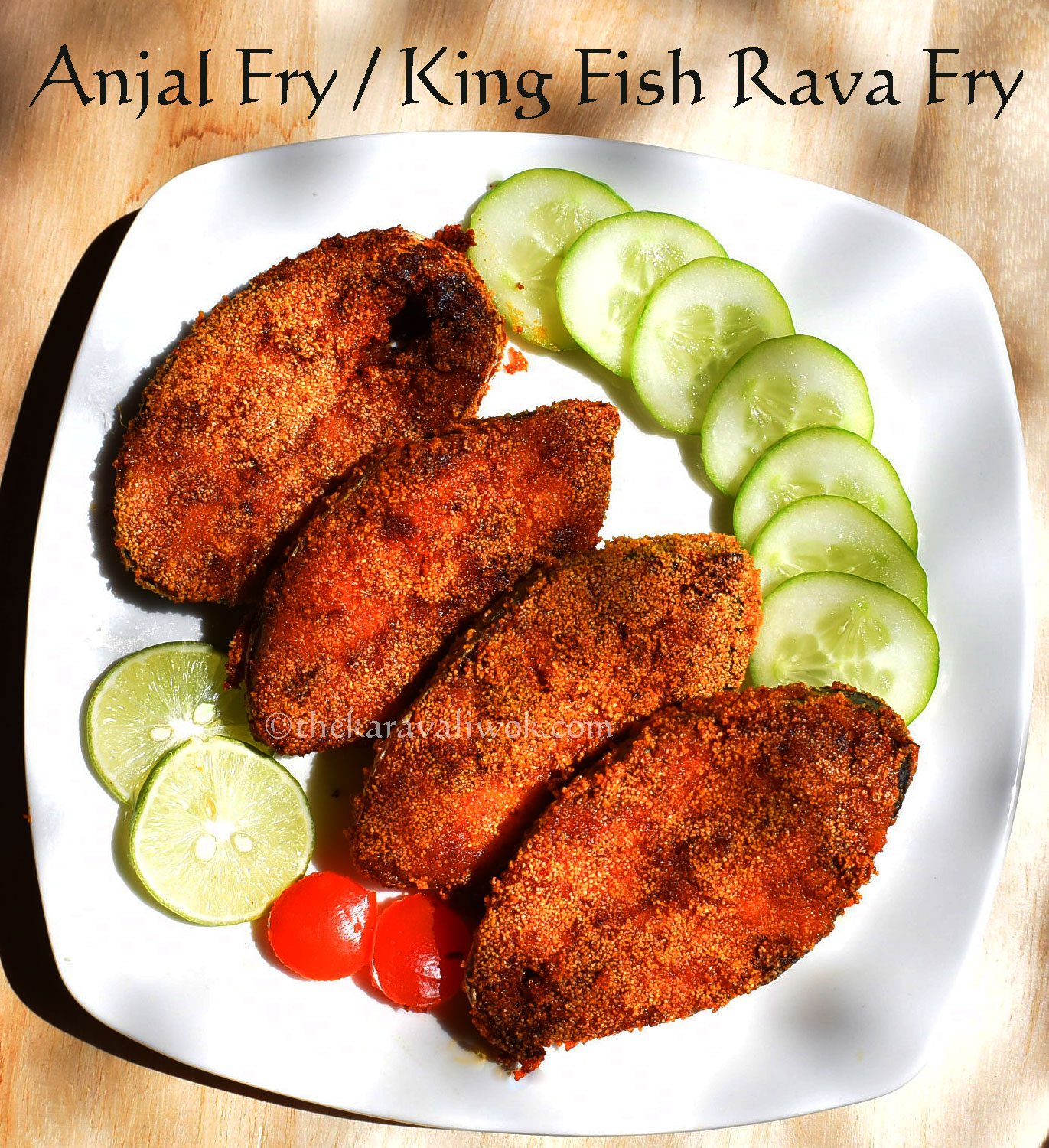 Anjal fry king fish rava fry mangalorean style the for Fish fry ingredients